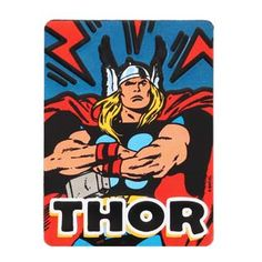 "No one would dare assign you extra paperwork once they see Thor and his mighty hammer guarding your cubicle. The retro look of this embossed tin magnet adds to the heroic fun.  Marvel officially licensed product Fast Shipping Easy Returns Product Category: Magnets Material Description: Embossed Metal Size: 2.25"" W X 3"" H X 0.125"" D Weight: 0.075 LBS Dc Comics Superheroes, Cubicle, Retro Look, Thor, Magnets, Size 2, Comic Books, Marvel, Wall Art"