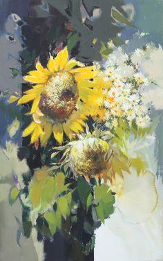 Daum 블로그 - 이미지 원본보기 Sunflower Art, Watercolor Sunflower, Watercolor Flowers, Watercolor Paintings, Fruit Painting, Flower Pictures, Beautiful Paintings, Watercolor Illustration, Drawings