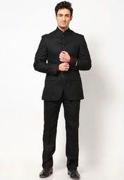 Black Solid Suit
