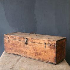 Wood Storage Box brown