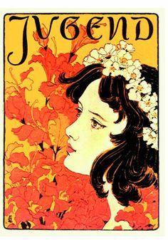 Otto Eckmann (1865-1902) was a German painter, graphic artist and designer. Member of Jugendstil (German Art Nouveau)