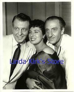 "Ralph Bellamy, Rita Gam & Basil Rathbone Photo ""Affair In Sumatra"" ABC-TV 1958"