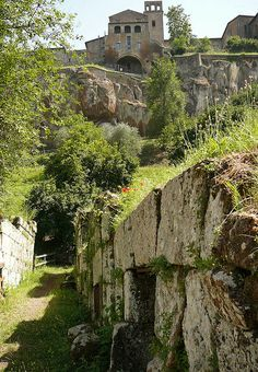 Crocefisso del Tufo, an Etruscan necropolis at the foot of Orvieto's cliff, Umbria, Italy