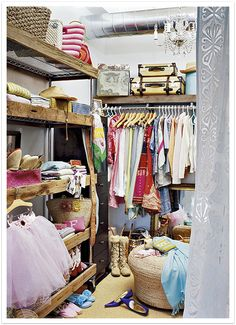 small closet with a dash of glam