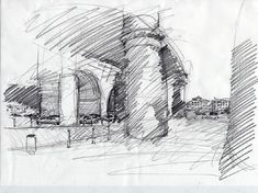 sketch. architecture sketch drawing