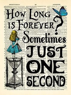 Alice in Wonderland Print How Long is Forever Quote Wall Art Poster Alice in Wonderland Quotes art print book page art Vintage Alice Art 074 idee di Tatuaggio Kawaii 💫 Alice In Wonderland Artwork, Alice In Wonderland Aesthetic, Dark Alice In Wonderland, Adventures In Wonderland, Alice In Wonderland Tattoo Quotes, Alice In Wonderland Background, Alice In Wonderland Printables, Alice In Wonderland Crafts, Art Prints Quotes