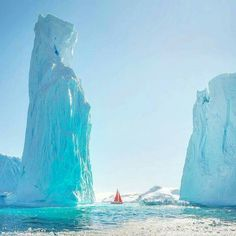 """coiour-my-world: """"danielkordan ~ Our yacht """"Peter the great"""" passing behind the huge tower in Antarctica. Lightroom, Photoshop, Landscape Photography, Travel Photography, Amazing Photography, Destination Voyage, Belle Photo, Vacation Trips, Sailing"""
