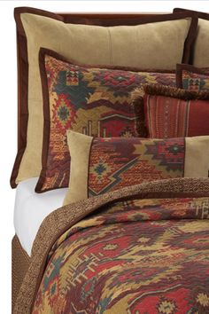 Style Syllabus: Dorm Decorating Ideas For Rustic Rooms! #refinery29  http://www.refinery29.com/style-syllabus-dorm-decorating-ideas-for-rustic-rooms#slide4  Santa Fe Quilt, $79.99 Twin, available at Bed Bath and Beyond.