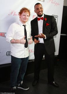 b425722b8d1 Ed Sheeran hangs with collaborator The Game
