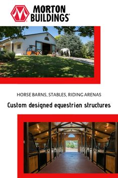 Learn about the numerous features Morton Buildings offers for horse barns, riding areas, and run-in shelters.