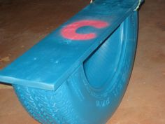 DIY: Recycled Tire Rocker (aka Tire Teeter Totter)