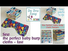 The perfect Baby Burp Cloth pattern - So Sew Easy