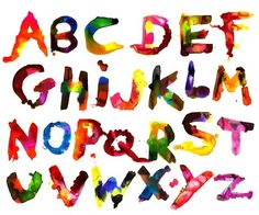Alphasplat Little Collector Type Font Typography Lettering Letters Watercolor Color Colour