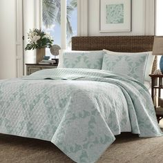 Pineapple Cape Harbor Reversible Quilt Set by Tommy Bahama Bedding