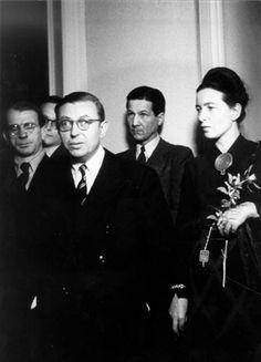 Avec Sartre en octobre 1947 à Berlin