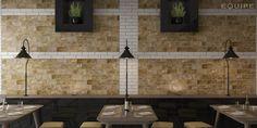 Brick Village 10x20 / White 6x24,6. #architect, #architecture, #bath, #brick, #contemporary, #design, #detoned tile, #floor tile, #industrial, #interior design, #interior designer, #kitchen, #loft, #modern, #stone, #stoneware tile, #traditional, #vanguard, #wall tile, #trend, #equipe, #muro, #revestimiento, #pavimento