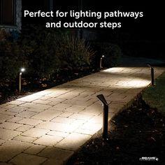 Light outdoor pathways, steps and hazardous areas with wireless, motion sensored lighting.
