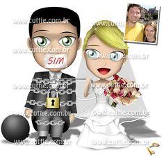 Caricatura para casamento - Noivos Katia e Paulo - noivinhos cuttie3