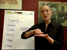 Sign Language Lessons: Common Phrases : Cleaning Phrases in Sign Language