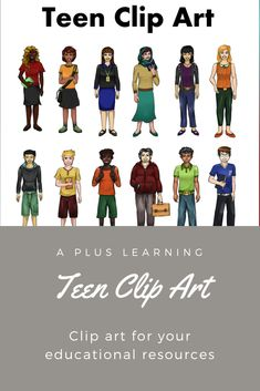Make your back to school resources come to life with our Teen Clip art.Excellent to have for high school resources especially those who create resources and a must have for classroom displays. School Resources, Classroom Resources, Teacher Resources, Classroom Displays, Classroom Organization, Classroom Management, School Stuff, Back To School, High School