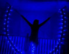Premade Blue Angel LED Isis dance wings by LunarWear on Etsy