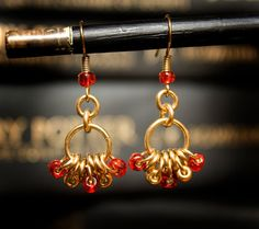 Hogwarts Collection  Brass Bead Hoop Earrings  by HowlOwl on Etsy. Harry Potter