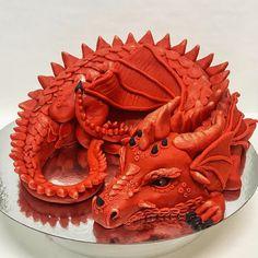 Dragon Birthday Cakes, Dragon Birthday Parties, Dragon Cakes, Dragon Party, 1st Boy Birthday, Thomas Cakes, Cake Designs Images, Custom Cakes, How To Make Cake