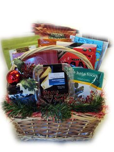 Childrens gluten free gift basket great for birthdays holidays deluxe gluten free christmas gift basket from well baskets the allergy blues negle Choice Image