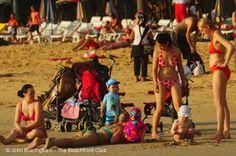 family and children on Kata Beach, Phuket