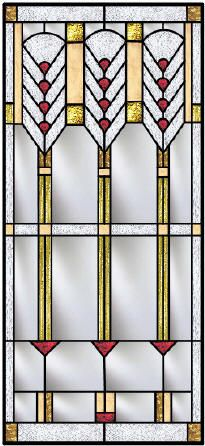 Frank Lloyd Wright Inspired Custom Stained Glass Windows