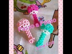 CHOCALHO DE MIÇANGAS PASSO Á PASSO (LEMBRANCINHA) - YouTube Pony Bead Patterns, Beading Patterns, Easy Crafts To Make, Diy Crafts, Brick Stitch Tutorial, Beaded Crafts, Beaded Animals, Pony Beads, Bead Art