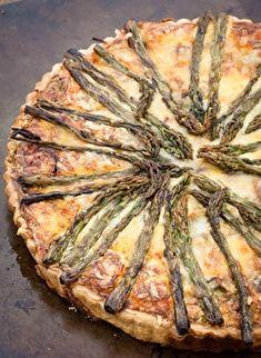 Asparagus and Gruyère tart recipe