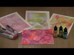 Studies In The Weird: Gel Press, Alcohol Inks, Hand Sanitizer by Joggles.com - YouTube