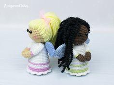 Lovely Angel Amigurumi - free Pattern by Amigurumi Today Angel Crochet Pattern Free, Crochet Doll Tutorial, Crochet Angels, Easy Crochet Patterns, Crochet Patterns Amigurumi, Amigurumi Doll, Crochet Dolls, Crochet Ideas, Free Pattern