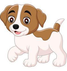 Cute little dog cartoon isolated vector Cute Panda Cartoon, Sheep Cartoon, Cartoon Monkey, Cartoon Fish, Happy Cartoon, Cute Baby Dogs, Cute Little Dogs, Cute Lion, Cute Sheep