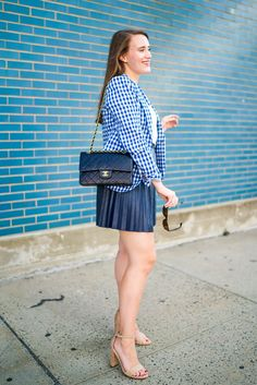 Wear to Work: Gingham Blazer | Covering the Bases | Fashion and Travel Blog New York City