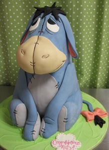 Eeyore Sculpted Birthday Cake, via Flickr.