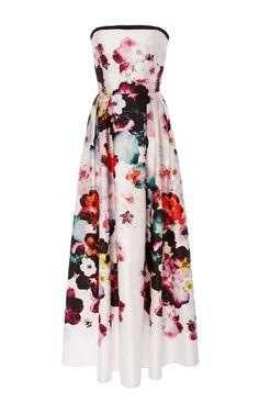 Strapless Floral Dress by ELIE SAAB for Preorder on Moda Operandi