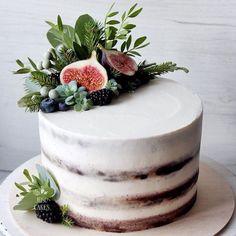 Cupcakes, Cupcake Cakes, Pretty Cakes, Beautiful Cakes, Cupcake Factory, Raw Cake, Wedding Cake Rustic, Birthday Cake Decorating, Dessert Decoration