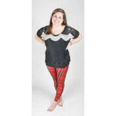 Lace & Knit (More Colors) Black/ White M