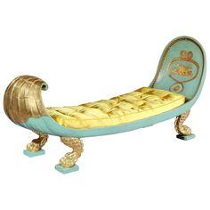 Regency Daybed Chaise Longue, English Regency, circa 1810 | From a unique collection of antique and modern chaise longues at https://www.1stdibs.com/furniture/seating/chaise-longues/