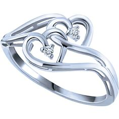 Ben Moss Jewellers Two Souls Collection. 0.03 Carat TW, Sterling Silver Ring