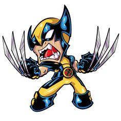 Wolverine Animated Cartoon Characters, Graffiti Characters, Chibi Characters, Wolverine Cartoon, Wolverine Art, Drawing Cartoon Faces, Cartoon Art, Marvel Art, Marvel Comics