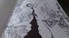 'Pick Up The Broken Pieces' April 2008 Artist - The Griz Medium - biro/ink on paper