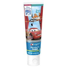 Crest Stages Pro-Health Kids Toothpaste Disney Pixar Cars and Planes with MagicTimer App Fruit Burst - 4.2 oz.
