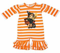 petit ami baby girls green gingham orange chevron pumpkin romper halloween pinterest babies