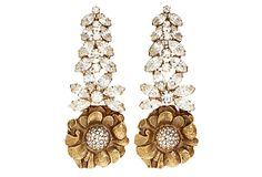 Cascading Flower Earrings on OneKingsLane.com sure hope these are clips!