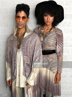 Prince and Andy Allo backstage at North Sea Jazz Festival three minutes prior to final concert in Rotterdam on his 'Welcome 2 Europe' tour on July 10, 2011 in Rotterdam, Netherlands.