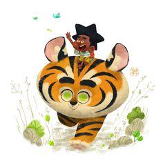 Sam and The Tiger Head, Gop Gap on ArtStation at https://www.artstation.com/artwork/6e5GV