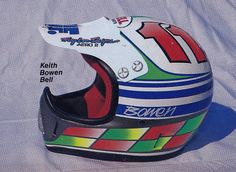 1988 Troy Lee Designs painted Bell Moto-4 of Keith Bowen | Flickr - Photo Sharing!
